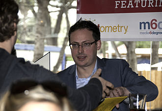Nate Silver - Silver signing a copy of The Signal and the Noise at SXSW 2013