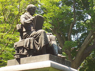 Nathaniel Bowditch - Nathaniel Bowditch's memorial statue by Robert Ball Hughes, in Mount Auburn Cemetery, Cambridge, Massachusetts.
