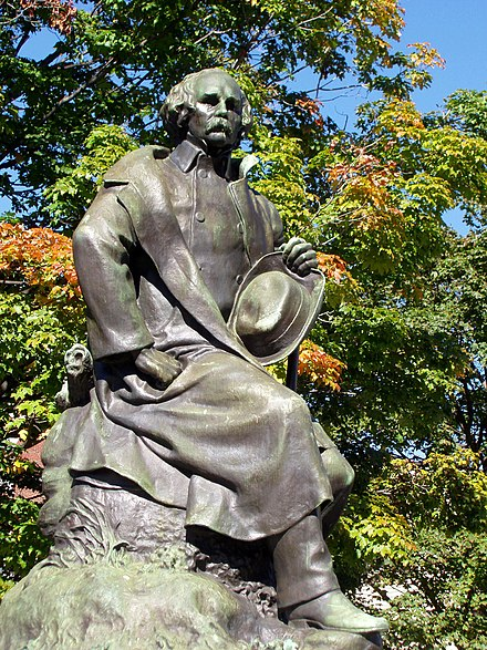 Statue of Hawthorne in Salem, Massachusetts Nathaniel Hawthorne statue - Salem, Massachusetts.JPG