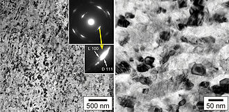 Aggregated diamond nanorod - Image: Natural nanodiamond TEM