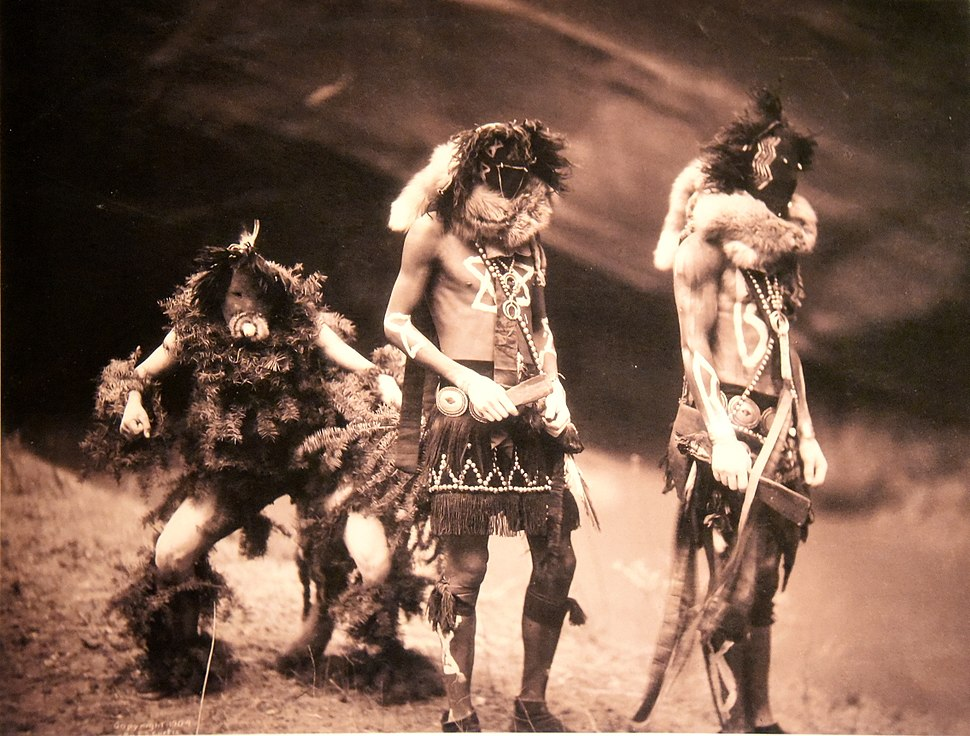 Navajo Yebichai (Yei Bi Chei) dancers. Edward S. Curtis. USA, 1900. The Wellcome Collection, London