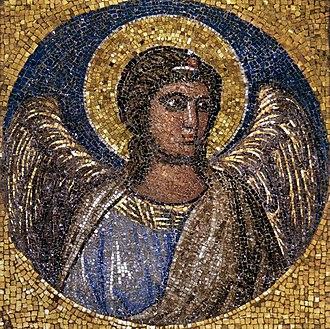 Navicella (mosaic) - Image: Navicella mosaic Fragment in Boville Ernica dark