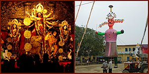 Vijayadashami - Image: Navratri Navaratri festival preparations and performance arts collage