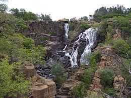 Die ncandu waterval , 12 km buite newcastle