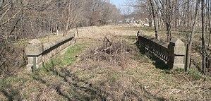 National Register of Historic Places listings in Otoe County, Nebraska - Image: Nebraska City concrete arch bridge 2
