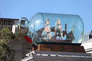 Yinka Shonibare - Nelson's Ship in a Bottle by Yinka Shonibare during its occupancy of the Fourth Plinth in Trafalgar Square
