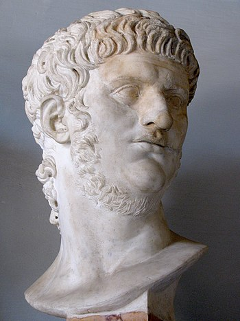 English: Bust of Nero at the Capitoline Museum...