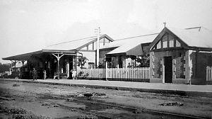 Tren del Valle - The Neuquén station in 1913.