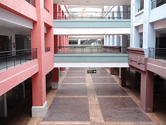 Dead mall - An empty corridor in the mostly vacant New South China Mall, one of the symptoms of the Chinese property bubble.
