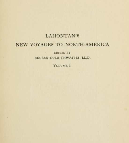 New Voyages to North America (1703)