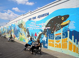 New York Aquarium - South wall