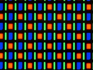 Nexus One - PenTile matrix pixel arrangement of the AMOLED screen