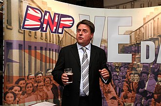 British National Party - Nick Griffin at a BNP press conference in Manchester in 2009