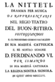 Nicola Conforto - Nitteti - titlepage of the libretto - Madrid 1756.png