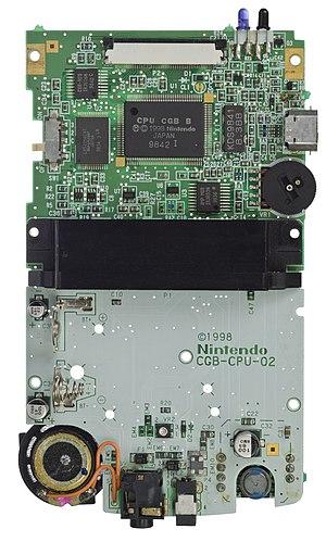 Game Boy Color - The Game Boy Color motherboard