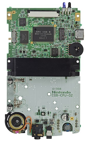 Game Boy Color - The Game Boy Color motherboard