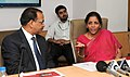 """Nirmala Sitharaman addressing at the inauguration of the Dash Board for """"Make in India Action Plan"""" and """"State Level Business Reforms Action Plan"""", in New Delhi.jpg"""