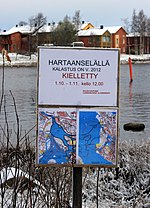 No fishing sign in the island of Elba in Oulu.