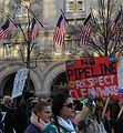 No pipeline - respect clean water - marchers pass Trump Hotel.jpg