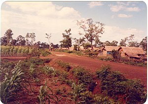 Nong Samet Refugee Camp - Nong Samet Camp, section 2, May 1984.