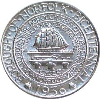 History of Norfolk, Virginia - Obverse