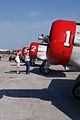 North American SNJ Texans GEICO Skytypers Noses TICO 16March2014 (14662322621).jpg