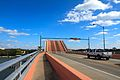 North Causeway bridge in New Smyrna Beach FL - view of raised bascule span from bridge deck.jpg
