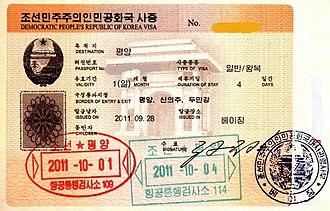 Visa policy of North Korea - North Korea Visa