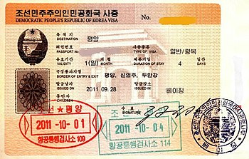 Visa Policy Of North Korea Wikipedia