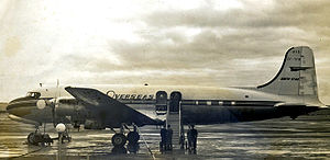 Canadair North Star - An ex TCA DC-4M-2 North Star of Overseas Aviation at Prestwick in 1960