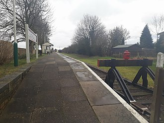 North Thoresby railway station - North Thoresby up platform in 2018