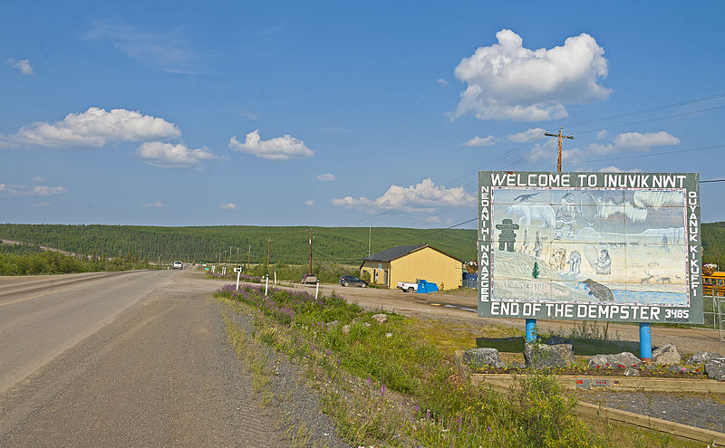 File:North end of the Dempster Highway, Inuvik, NT.jpg