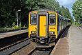 Northern Rail Class 150, 150266, Hindley railway station (geograph 4531659).jpg