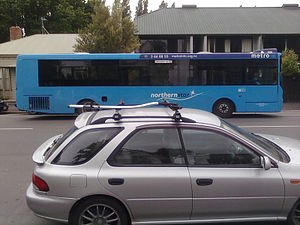 Go Bus Christchurch - The Northern Star provides links between the City centre and Rangiora/Woodend/Waikuku