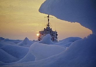 USCGC Northwind (WAGB-282) - USCGC Northwind beset in the Beaufort Sea in 1969.