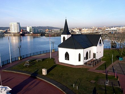 The Norwegian Church, Cardiff, was established by the Church of Norway in 1868 to serve the religious needs of Norwegian sailors and expatriates.