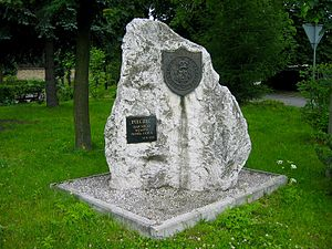 Nowa Góra, Lesser Poland Voivodeship - A monument commemorating the ancient town seal of Nowa Góra