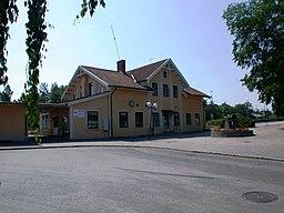 Jernbanestationen i Nybro Så som den så ud før ombgygningen i 2008
