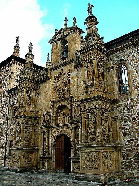 Puerta principal de la Universidad del Santo Espíritu, de Pierre Picart, Oñate.