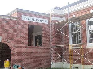 Oscar K. Allen - The O.K. Allen Building at the University of Louisiana at Lafayette is shown under renovation in 2011. It is a former food service building that now houses business administration.