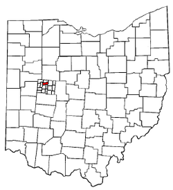 Location of McArthur Township in Ohio