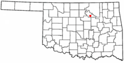 Location of Maramec, Oklahoma