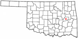 Location of Stidham, Oklahoma