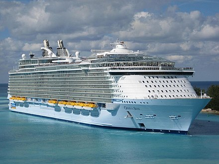 The Oasis of the Seas was built at the Perno shipyard in Turku. Oasis of the Seas.jpg