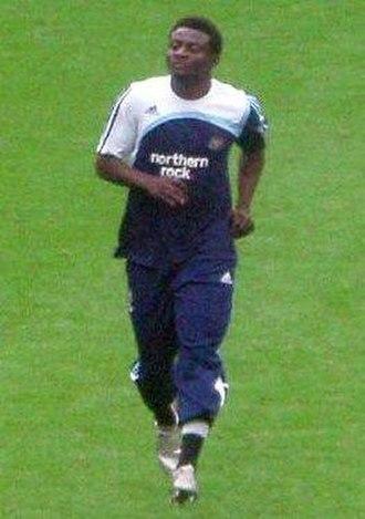 Obafemi Martins - Martins warming up before a match
