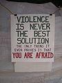 Occupy Portland November 9 violence sign.jpg