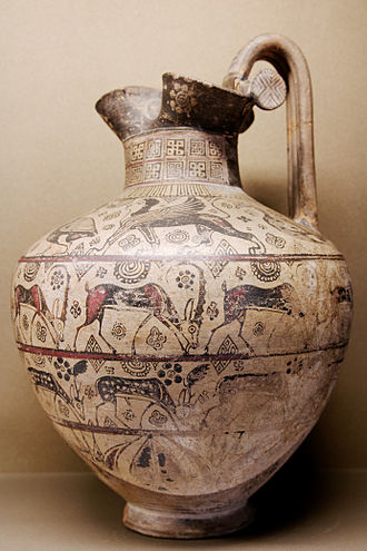 An ancient Greek oenochoe depicting wild goats Oinochoe Wild Goat Louvre A311.jpg