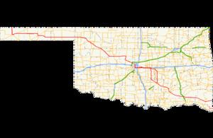 Oklahoma State Highway 3 - Image: Ok 3 path