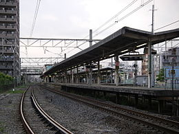 Okegawa Station from Ground.jpg