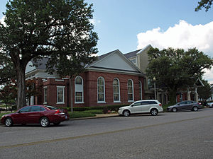 First Baptist Church (Bay Minette, Alabama) - The building in June 2013